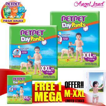 Harga [Mega Sales Deal~2FOC1] PETPET DayPants Diaper Mega Packs XXL48 (3packs)
