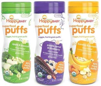 Harga Happy Baby Organic Puffs 3 bottles (Apple, Banana, Blueberry)