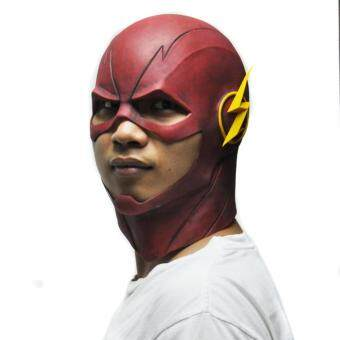 Harga Red The Flash Mask DC Movie Cosplay Costume Prop Halloween Latex Party Masks