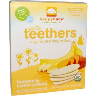 Harga Happy Baby Teething Wafer - Sweet Potato/Banana