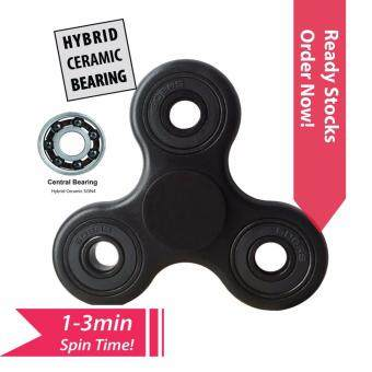 Harga NoZig Tri Fidget Hand Spinner with Hybrid Ceramic Si3N4 Bearing, Great Gift for ADD, ADHD and Autism Adult Children Blk