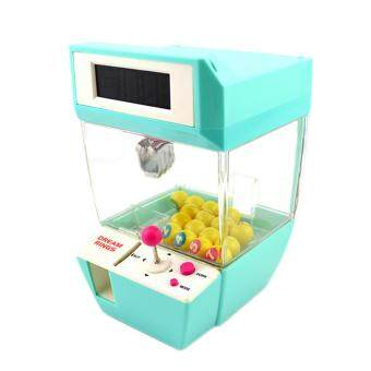 Harga 360DSC Coin Operated Candy Grabber Desktop Doll Candy Catcher Crane Machine wtih Alarm Clock Function - Green