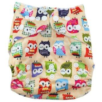 Harga Washable Cloth Nappy Baby Diaper + Baby Reusable Diapers Bamboo Eco Cotton Diapers Nappy M27 - Intl