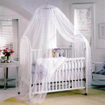 Harga Mosquito Nets 4 U Baby Canopy/Mosquito Net for Cot with Drawstring Bag( White)