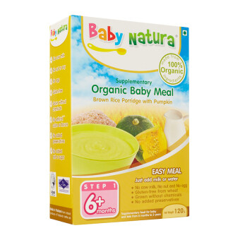 Harga Baby Natura Organic Brown Rice Porridge - Pumpkin