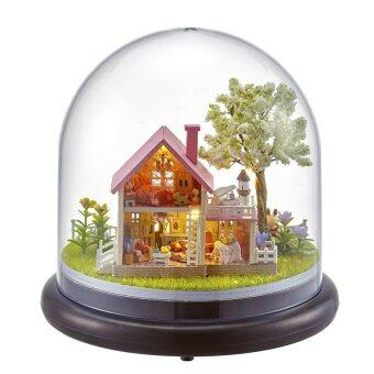 Harga OEM DIY Wooden Doll House with Light