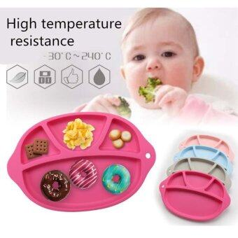 Harga Silicone Baby Placemat/Baby Dish in Cute Shape Silicone Baby/Child Plate Set Happy Mat for KAids Rose Pink Color