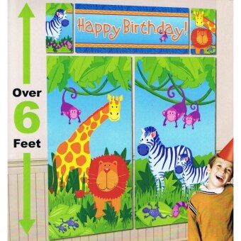 Harga Amscan Jungle Animals Scene Setter Happy Birthday Photo Booth 6ft