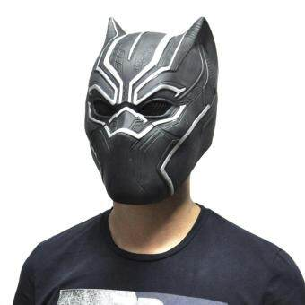 Harga Black Panther Masks Movie Fantastic Four Cosplay Men's Latex Party Mask for Halloween