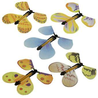 Harga 5pcs Magic Flyer Butterfly Plastic Transform Flying Butterfly Cocoon into a Butterfly Trick Prop Magic Toy