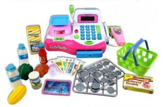 Harga Children Toy Simulation Supermarket Cash Register Cashier Business Man Pretend Play Math Toys,Microphone Works