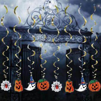 Harga 2Pcs Halloween Party Decoration Funny Hanging pumpkin ghost Paper Decoration Tassel