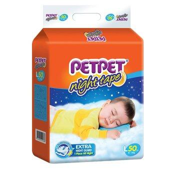 Harga PETPET Night Tape Diaper Mega Packs L50
