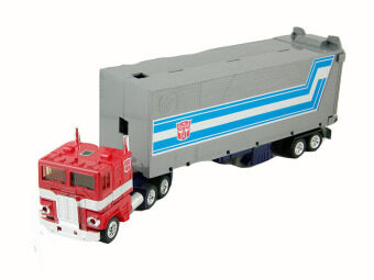 Harga G1 Figure Optimus Prime (Red ) Autobot Transformer OP Metal Head With Truck Carriage Robot Toys - Classic Collection Series Version