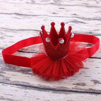 Harga Cocotina Baby Kids Girl Princess Queen Pearl Tiara Hair Band Headband Crown Lace Headwear - Red