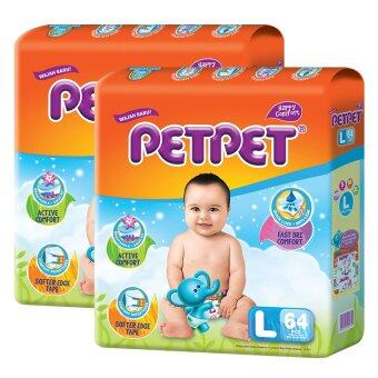 Harga PETPET Tape Diaper Mega Packs L64 (2packs)