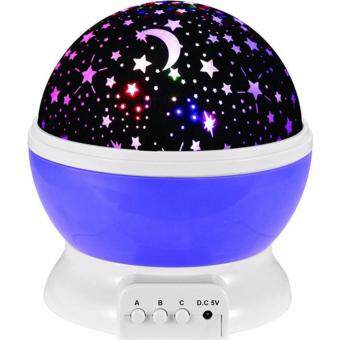 Harga Ajusen Room Novelty Night Light Projector Lamp Rotary Flashing Starry Star Moon Sky Star Projector Kids Children Baby