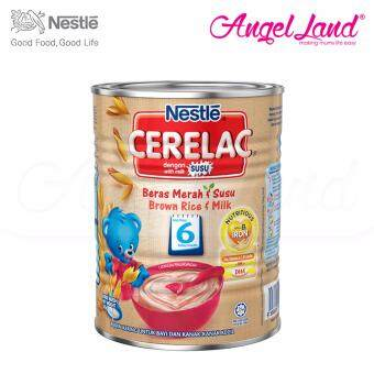 Harga Nestle Cerelac Brown Rice & Milk 6M+ (350G)