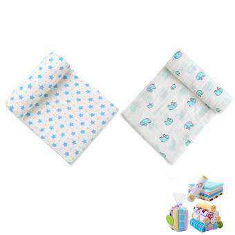 Harga 2 Pcs Swaddle Blankets Large Super Soft Breathable Muslin Receiving Blanket and 8 Pcs Bonus Baby Towels Handkerchief