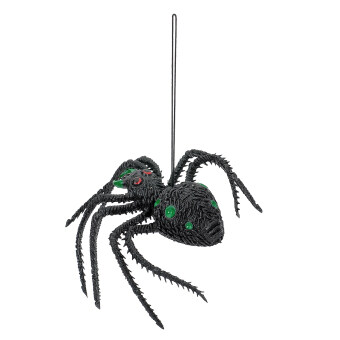 Harga 03 Scary Halloween Lifelike Silicone Spider Toy Green/Black