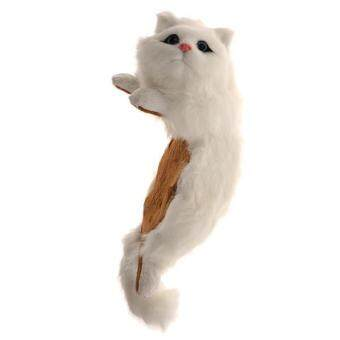 Harga BolehDeals Hanging Naughty Cat Plush Soft Toy Furry Ornament Ragdoll White 2