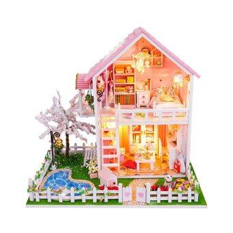 Harga Sakura Trees with Light/Anti-dust cover DIY Miniature Doll House