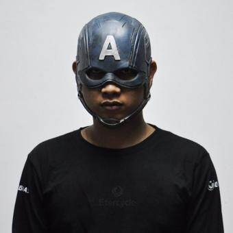 Harga Captain America Masks Movie Cosplay Costume Props Halloween Superhero Latex Mask DC Collectible Toys