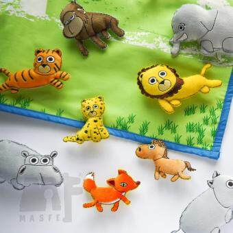 Harga Wild Animal Wall Chart, Story Telling,Back to school Wall Chart,Nursery Room Decoration, Montessori gift by MasfeMY