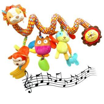Harga SKK Baby Baby Bed and Stroller Toy Baby Rattle Bed Hanging Activity Spiral with Teether & Music