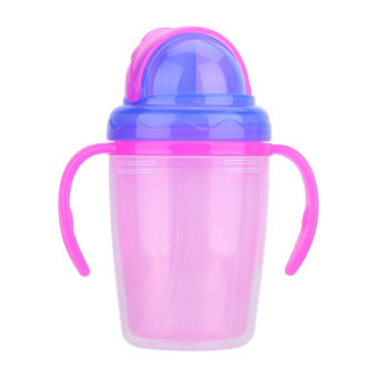 Harga Straw Cup Double-insulated Against Hot Cartoon Children Drinking Cups