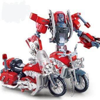 Harga Autobot Alloy Fire Status With Motorcycle Models Transformers Action & Figure Robot Toys