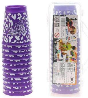 Harga Yuxin Stack Cups - Pattern Purple with Box (3rd Generation ~ Official Competition Stack Cups)