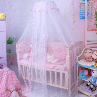 Harga Summer Baby Infant Mosquito Net Toddler Bed Crib Canopy Netting White Babe Dome