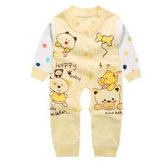 Harga Bear Fashion Newborn Cotton Baby Infant Boys Girls Clothes Bear Rompers Long Sleeve Body Suits Jumpsuits