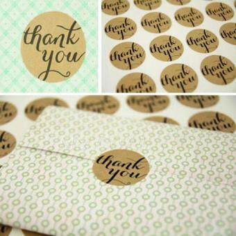 Harga Thank You Craft Packaging Seals Kraft Sticker Labels Wedding Favours Toppers