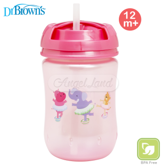 Harga Dr Brown´s Straw Cup 270ml 12m+ Pink (30085)