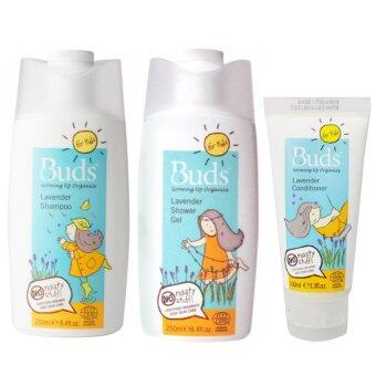 Harga [Buds Lavender Bathing Set] BFK Lavender Shower Gel 250ml + BFK Lavender Shampoo 250ml + BFK Lavender Conditioner 100ml