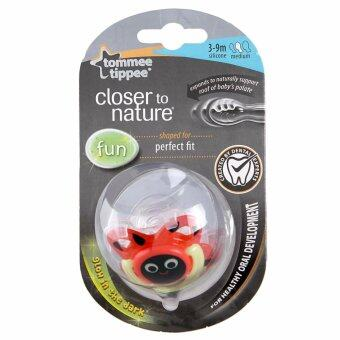 Harga Tommee Tippee CTN Fun S/R Soother Ladybird Red 3-9m