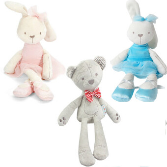 Harga 35cm Rabbit Soft Plush Toy Bunny Rabbit Baby Placate Toy Gifts for Girls Children's Christmas Gifts