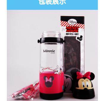 Harga (Preorder)Kimo Disney Mickey Minnie Princess & Pooh straw bottle for kids - anti leakage with high quality