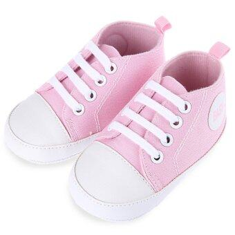 Harga Chic Soft Pure Color Lace-up Toddler Shoes for Infant Babies