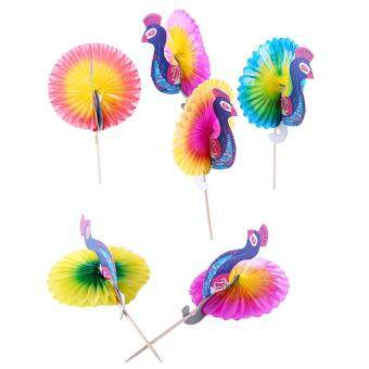 Harga 50pcs Drink Cake Sticks Picks Club Decorations Peacock