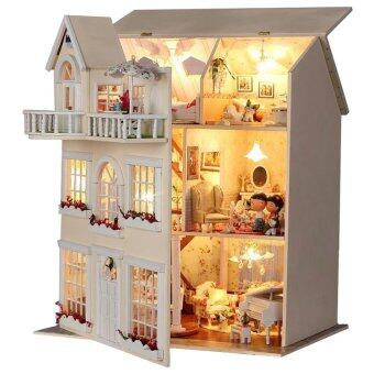 Harga Wooden DIY Doll House Miniature