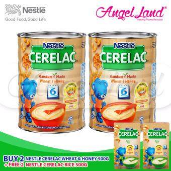 Harga Buy 2x Nestle Cerelac Wheat Honey (500G) + Free 2x Nestle Cerelac Rice (100G)