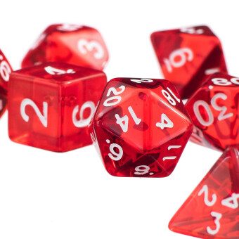 Harga 7Pcs Red D4 D6 D8 D10 D12 D20 Dice Set For Dungeons and Dragons Game (Intl)