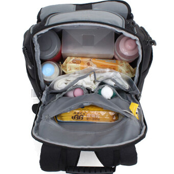 Harga Large Capacity Baby Nappy Backpack Multi Function Mummy Bag (Black)