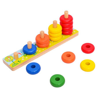 Harga 360WISH Rainbow Calculate Circle Montessori Counting Stacker Wooden Educational Toy for Baby Kids Chilrden (EXPORT)
