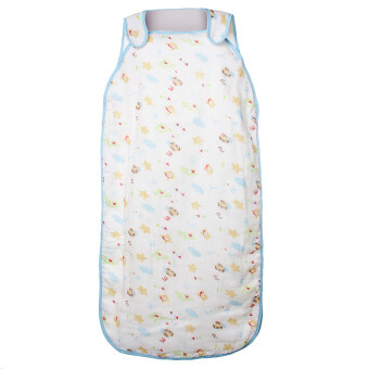 Harga BolehDeals Cute Beer Print Sleeveless Cotton Baby Sleeping Bag Cocoon Blue
