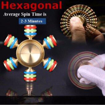 Harga 2017 Hexagonal Brass Hand Spinner Fidget Torqbar relieves stress Toy