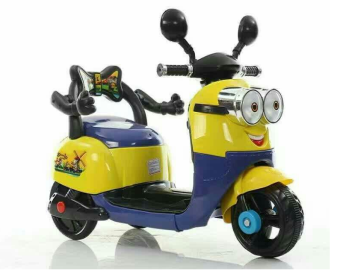 Kid's Rechargeable Motorbike Minion Design
